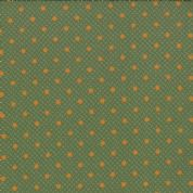 Moda Jelly Bean by Laundry Basket Quilts - 3248 - Orange Spot on Green  42153 18 - Cotton Fabric